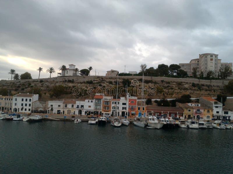 Puerto España de Mahon imagen de archivo libre de regalías