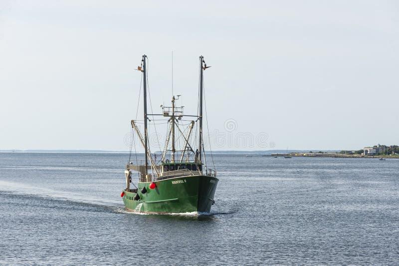 Puerto externo que cruza de buque pesquero II generoso New Bedford fotos de archivo libres de regalías