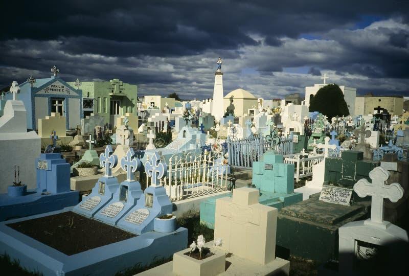 puerto för kyrkogårdchile natales royaltyfria foton