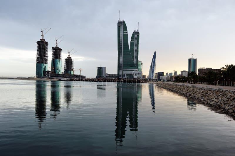 Puerto financiero de Bahrein imágenes de archivo libres de regalías