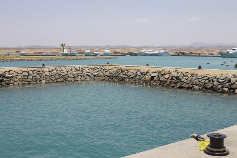 Puerto Ghalib Marina Red Sea Egypt imagenes de archivo