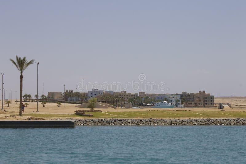 Puerto Ghalib Marina Resort Red Sea Egypt imágenes de archivo libres de regalías