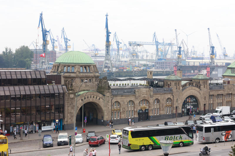 Puerto Hamburgo fotos de archivo libres de regalías