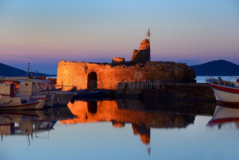 Puerto hermoso de Naousa en la isla de Paros, Cícladas Grecia fotografía de archivo