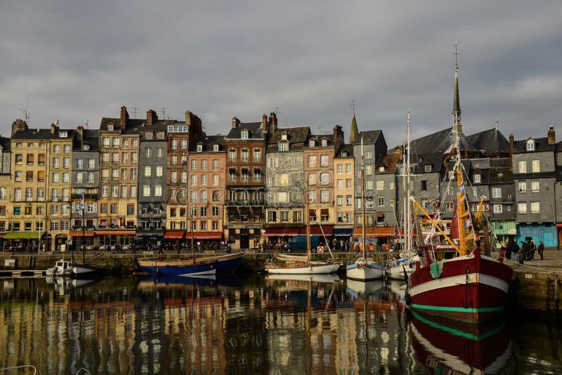 Puerto histórico de Honfleur foto de archivo libre de regalías
