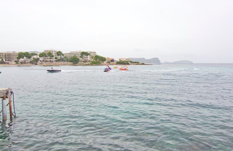 Puerto Ibiza del Es Canar foto de archivo