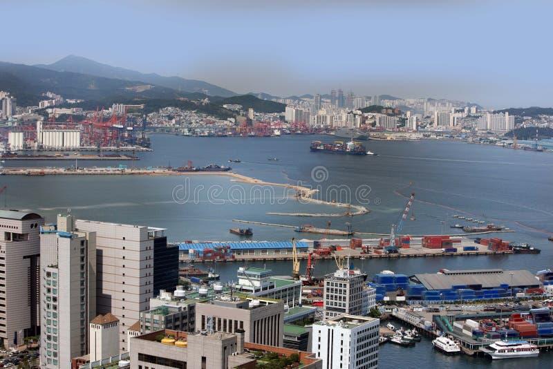 Puerto industrial del Sur Corea de Busan imagen de archivo libre de regalías