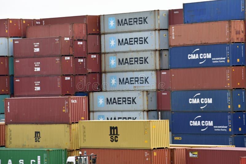 Puerto interior de Carolina Ports Authority del sur foto de archivo libre de regalías