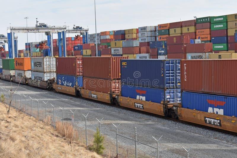 Puerto interior de Carolina Ports Authority del sur fotos de archivo libres de regalías