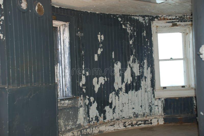 Puerto interior del faro del refugio fotografía de archivo libre de regalías