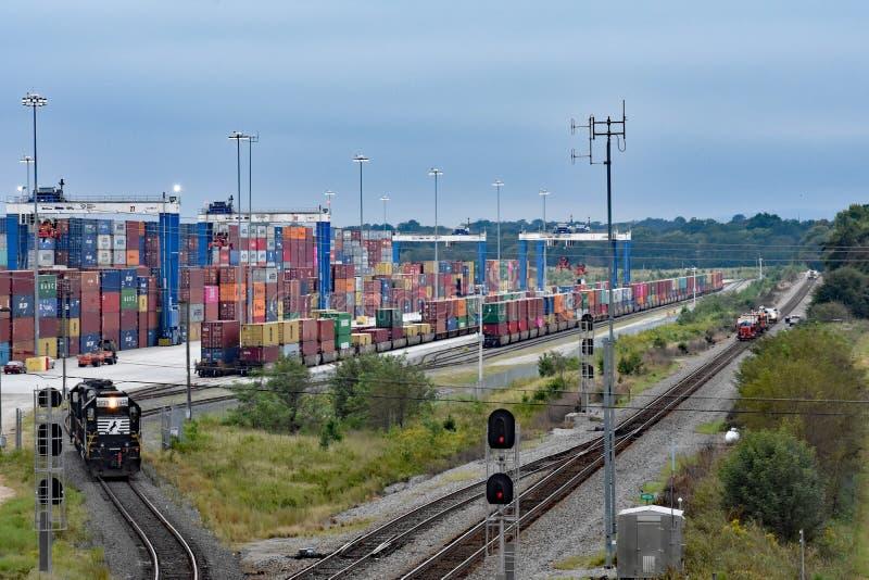 Puerto interior Greer de autoridad de puertos del SC imagen de archivo libre de regalías