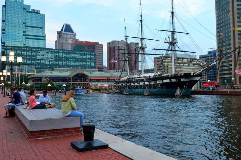 Puerto interno, Baltimore fotografía de archivo