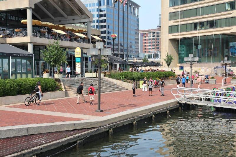 Puerto interno de Baltimore fotos de archivo