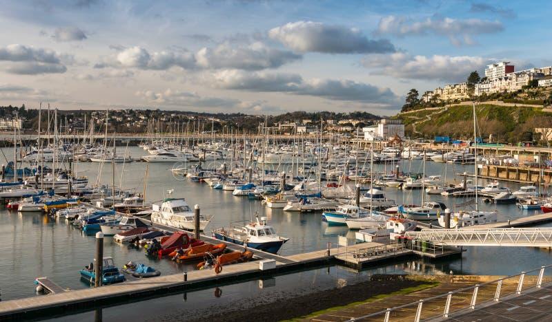 Puerto interno de Torquay foto de archivo