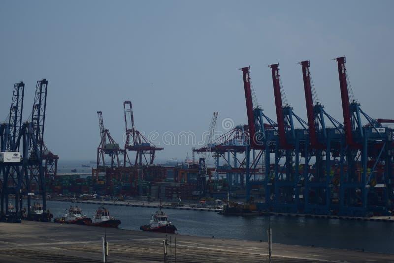 Puerto Jakarta de Tanjung Priok fotografía de archivo libre de regalías