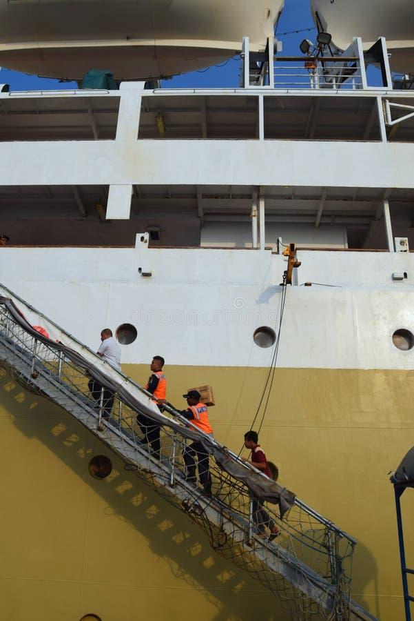 Puerto Jakarta de Tanjung Priok fotos de archivo libres de regalías