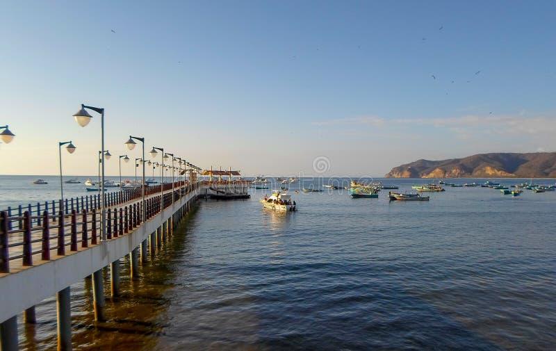 Puerto Lopez in Manabi-Provincie, Ecuador stock afbeeldingen