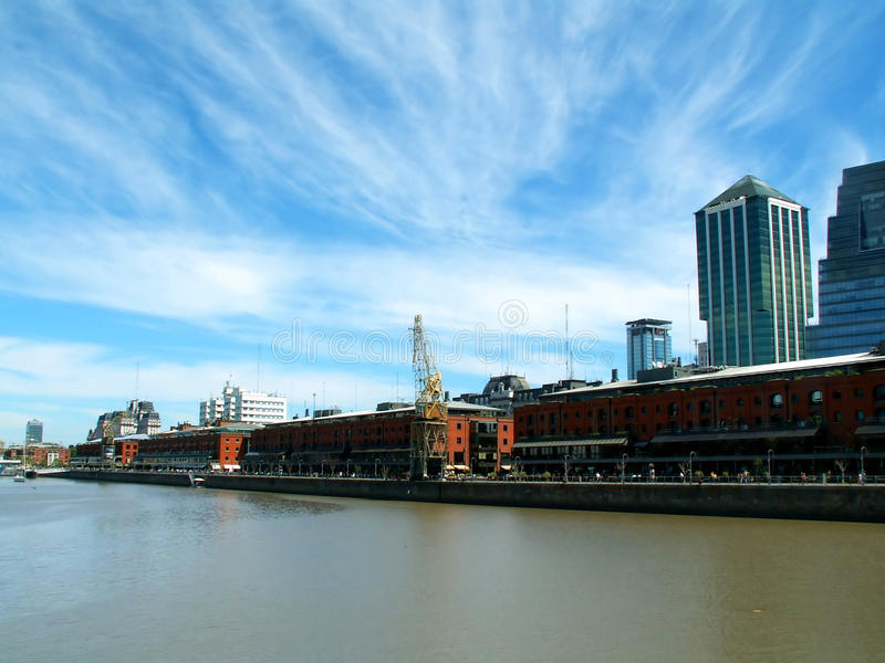 Puerto Madero. Modern district in Buenos Aires stock image