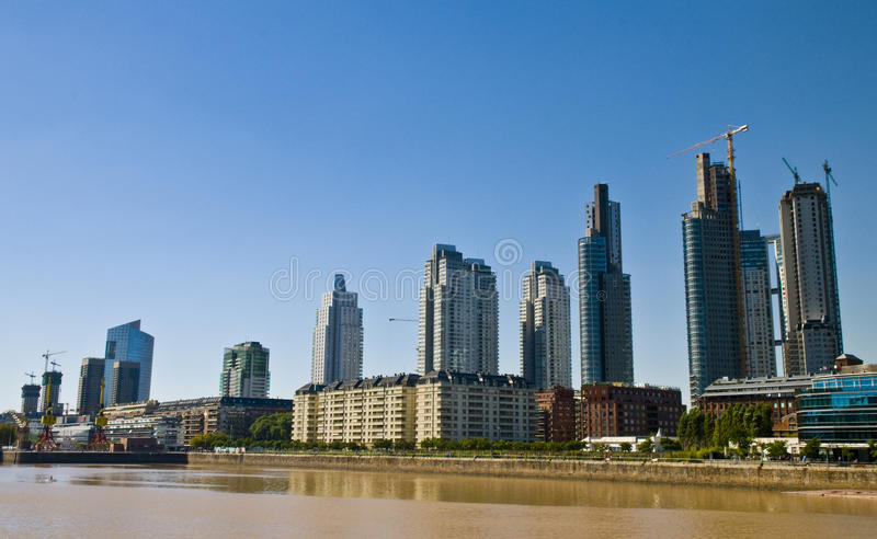 Puerto madero. Is the new modern neighborhood in Buenos Aires Argentina royalty free stock photo