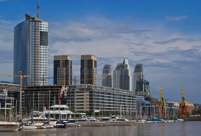 Puerto madero. View of Puerto madero, Buenos Aires, Argentina stock photos