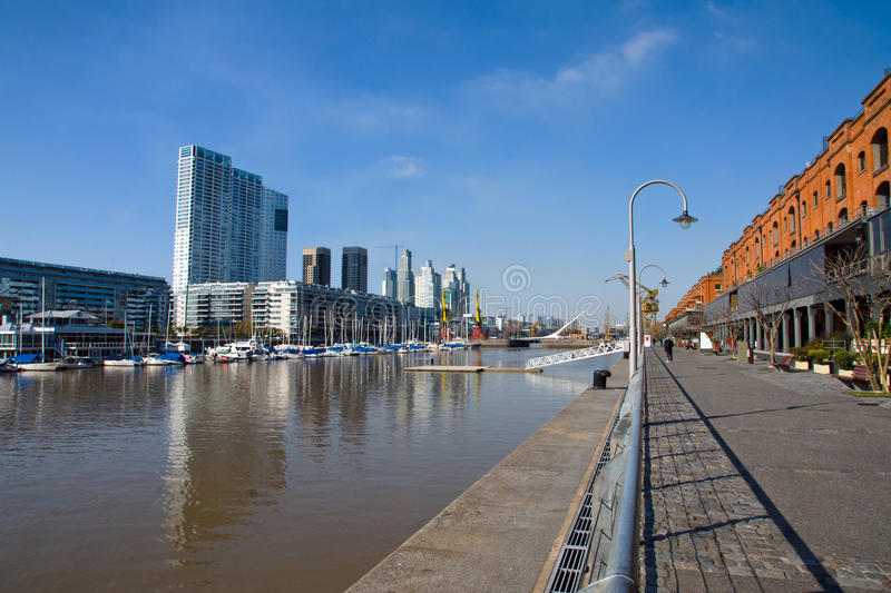 Puerto Madero in Buenos Aires. View of Puerto Madero in Buenos Aires, Argentina stock photo