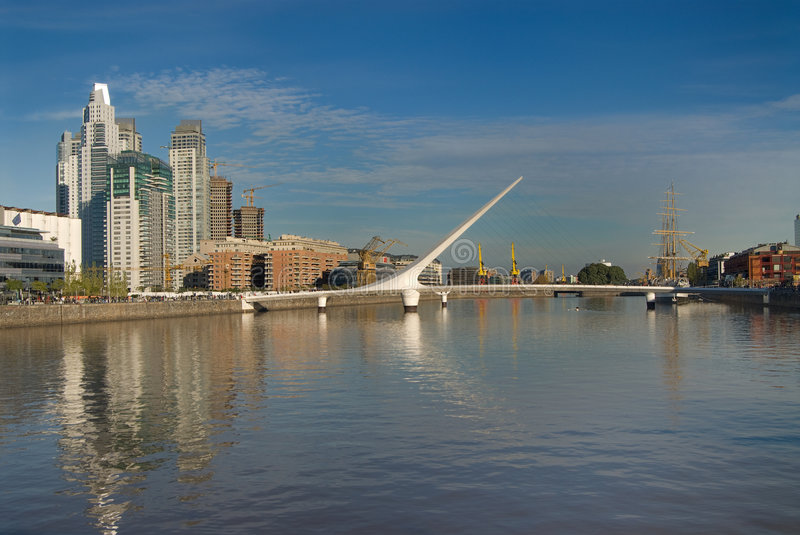Puerto Madero in Buenos aires stock afbeelding