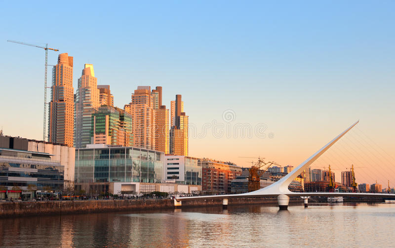 Puerto Madero, Buenos Aires, Argentine. photographie stock
