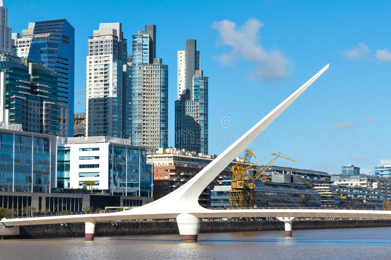 Puerto Madero, Buenos Aires Argentinien image stock