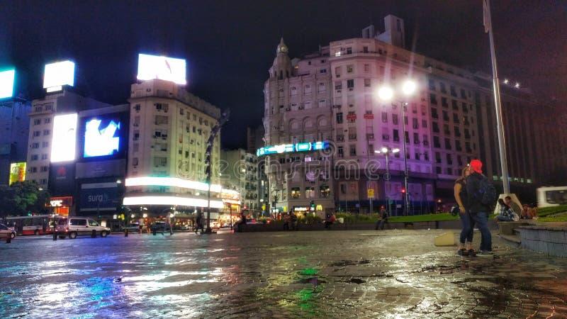 Puerto Madero an der Dämmerung stockbild