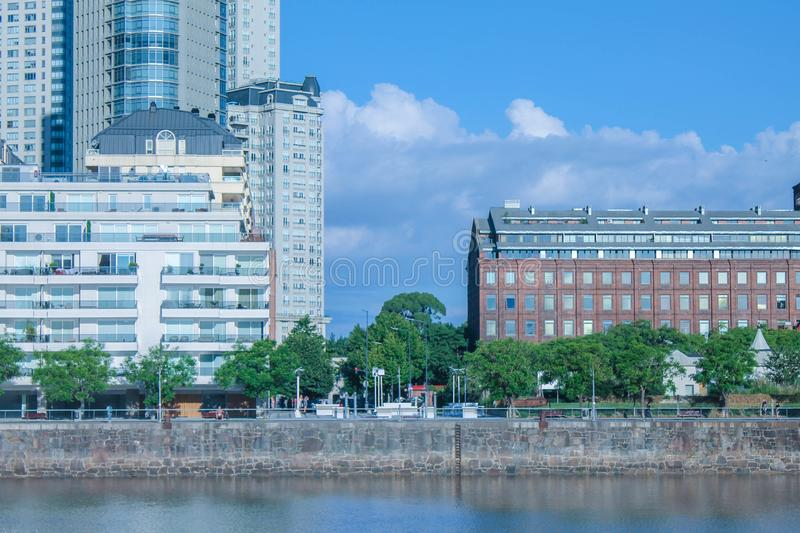 Puerto Madero Detail Tourism South. Latin America Lifestyle Buenos Aires Sky stock photography
