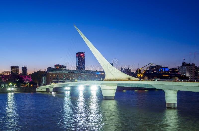 Puerto Madero em Buenos Aires, Argentina imagem de stock