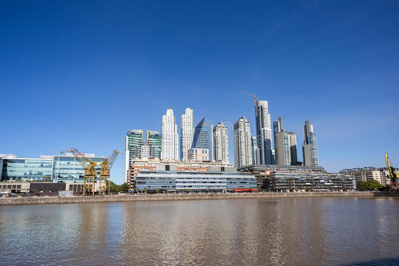 Puerto Madero, the habor in Buenos Aires, Argentina stock image