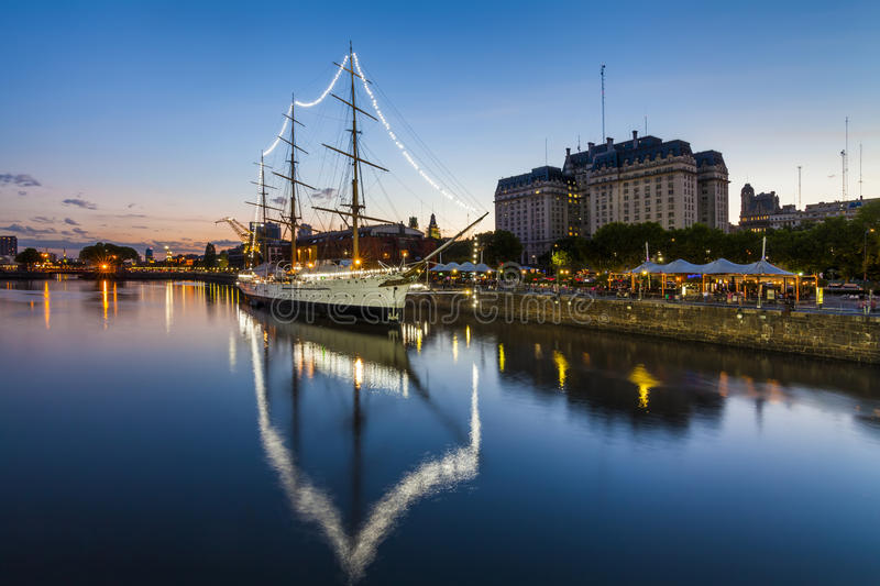 Puerto Madero at the Night, Buenos Aires, stock photo