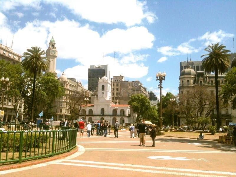 Puerto Madero på skymning royaltyfri foto
