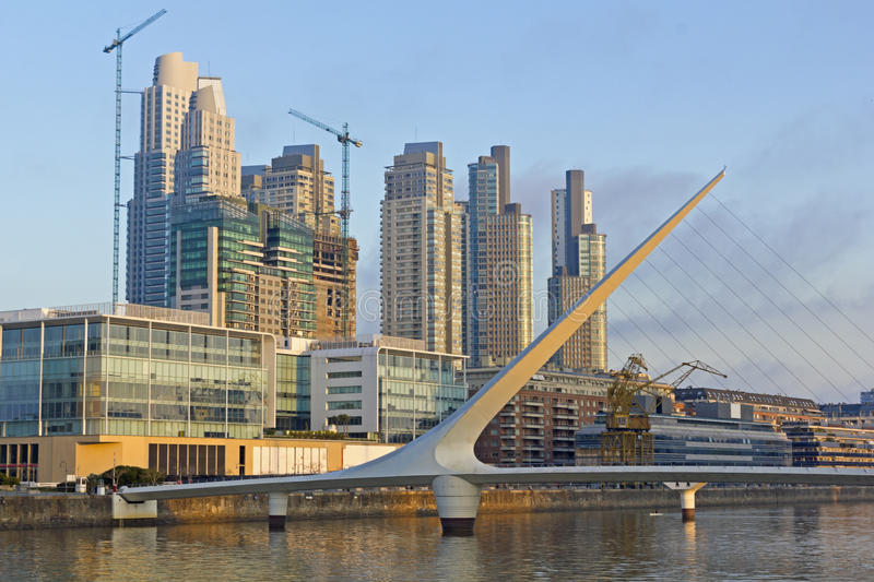 Puerto Madero view. Puerto Madero view, with modern buildings. Buenos Aires, Argentina stock photo