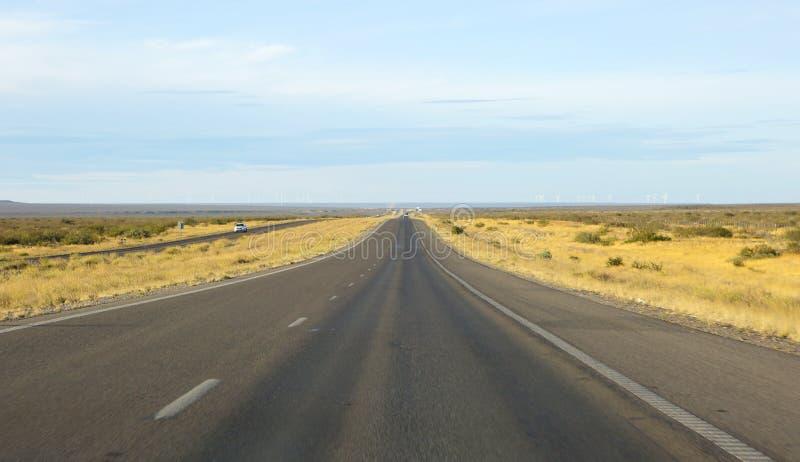 Puerto Madryn Argentinië snelweg stock fotografie
