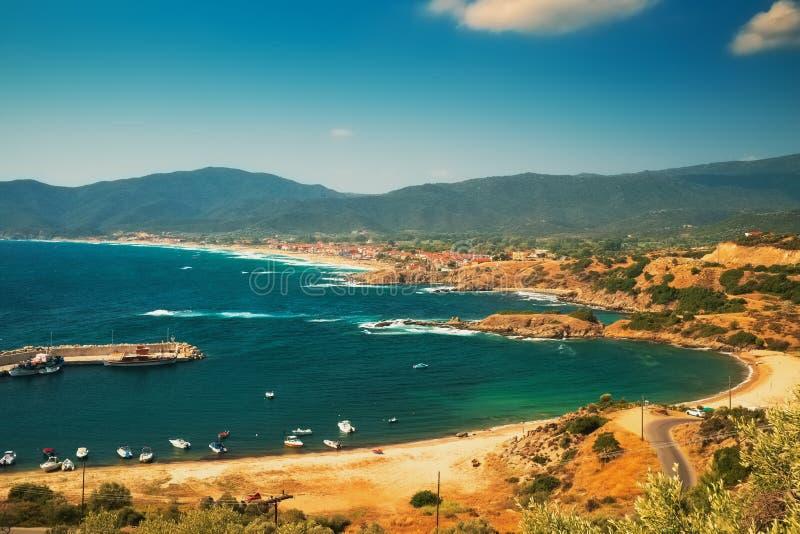 Puerto marítimo en Grecia imagenes de archivo