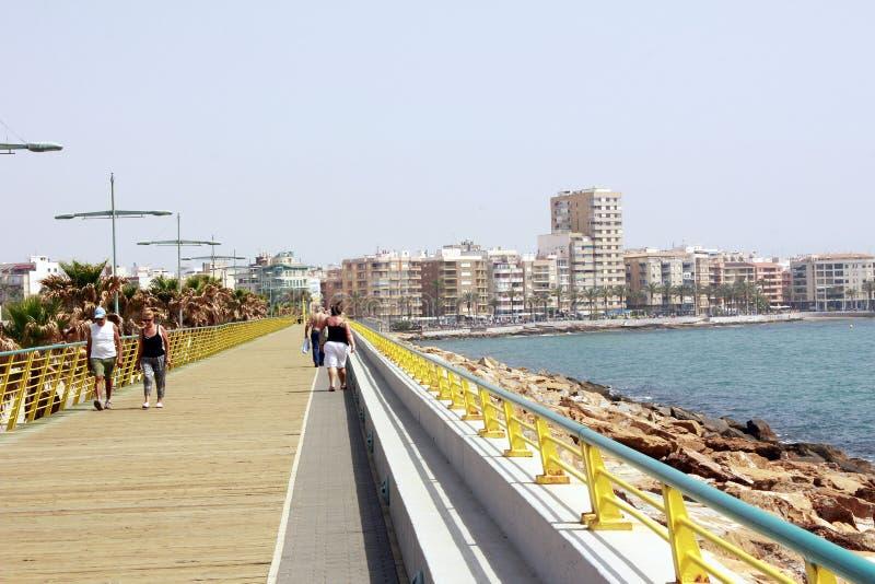 Puerto marítimo Torrevieja, España, imagen de archivo libre de regalías