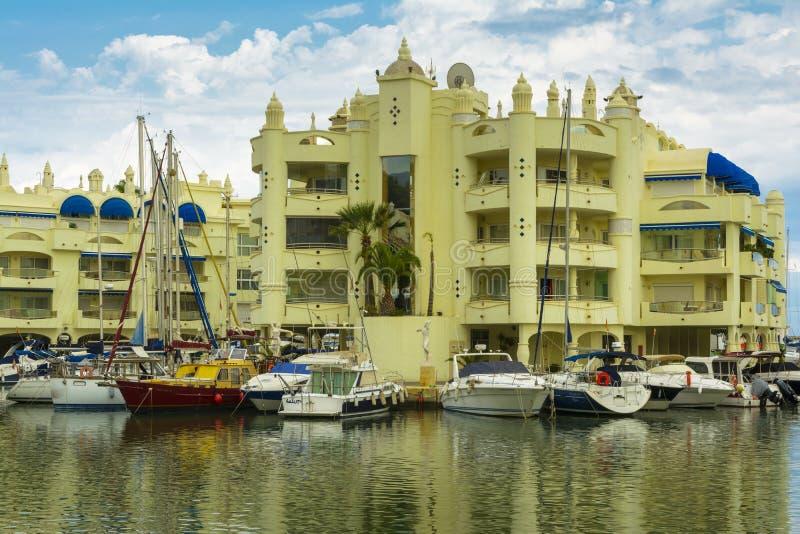Puerto Marina Benalmadena, Malaga, Spagna fotografia stock libera da diritti