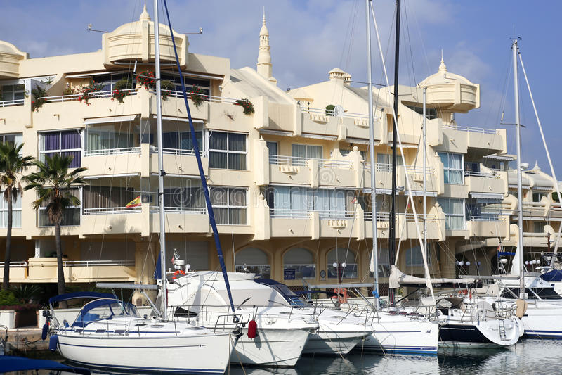 Puerto Marina Benalmadena Spain Andalicia fotografia stock libera da diritti