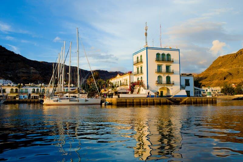 Puerto Mogan大加那利岛 图库摄影