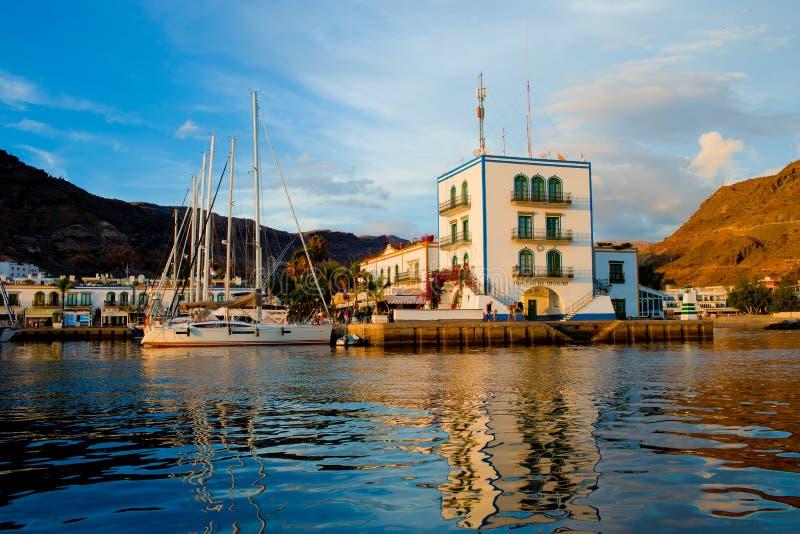 Puerto Mogan大加那利岛 库存图片