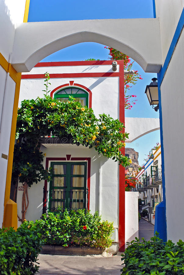 Puerto Mogan - Gran Canaria stock foto