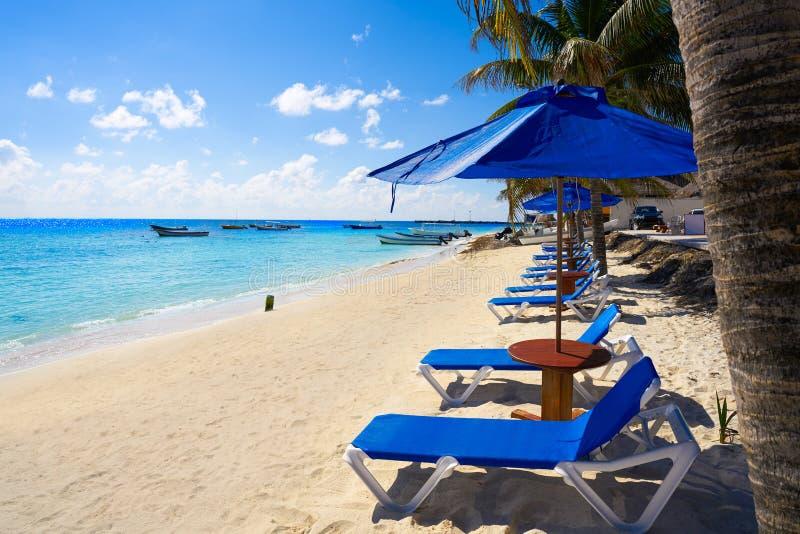 Puerto Morelos beach in Mayan Riviera stock photo