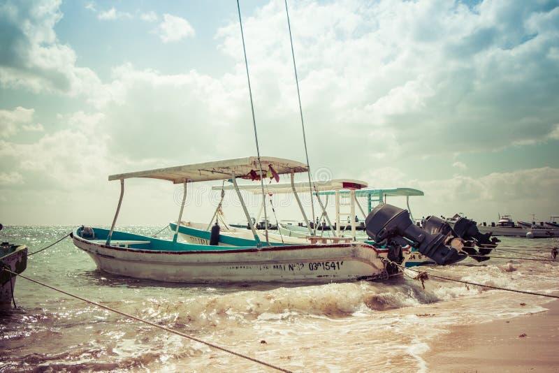 Puerto Morelos Karaiby plaża Meksyk fotografia royalty free