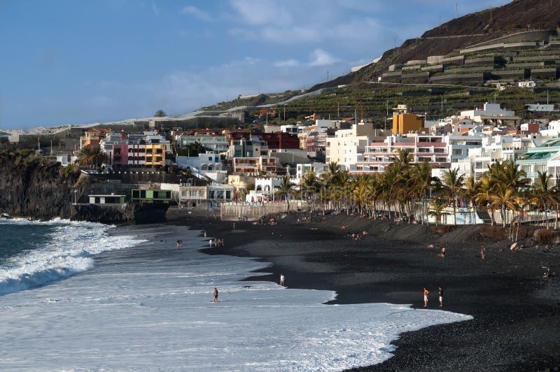 Puerto Naos海滩,拉帕尔玛岛 免版税库存照片