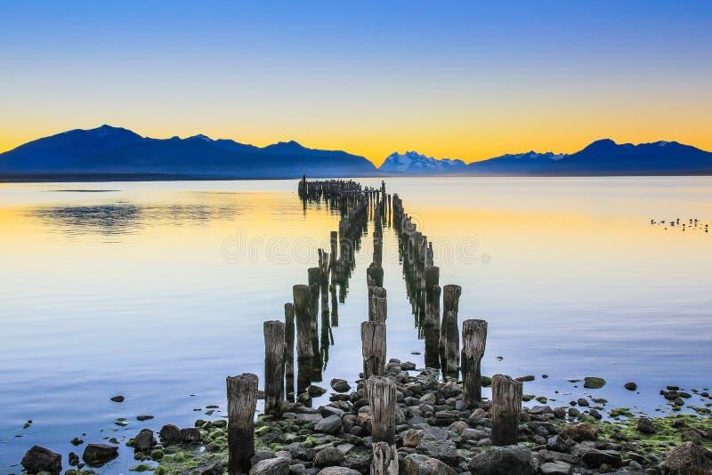 Puerto Natales, Cile fotografia stock libera da diritti