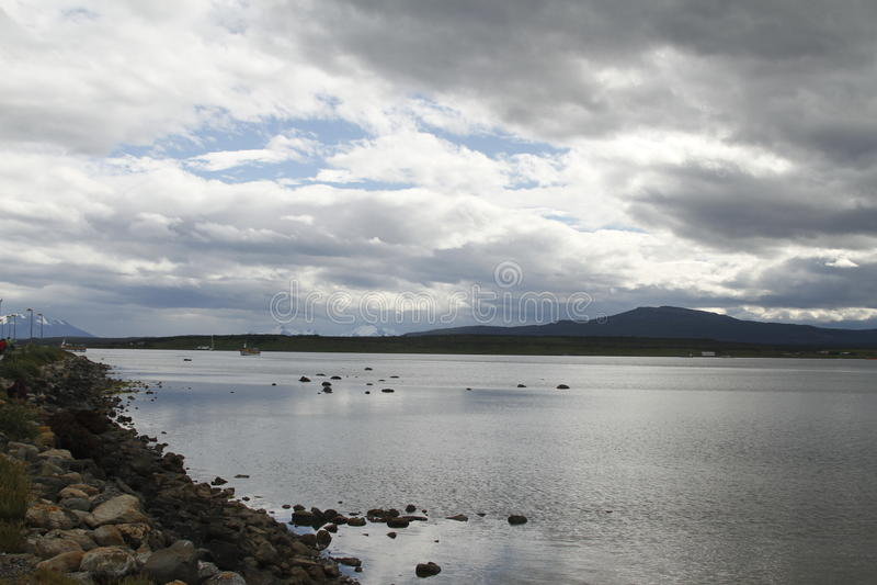 Puerto Natales Patagonië Chili stock foto's