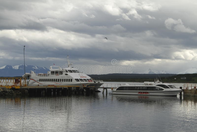 Puerto Natales Patagonië Chili stock afbeelding
