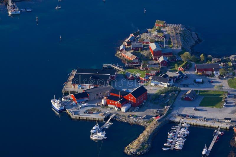 Puerto noruego imagenes de archivo